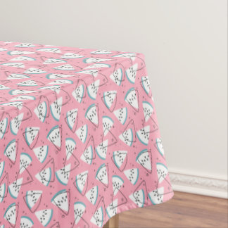 Colorful Watercolor Watermelons Tablecloth