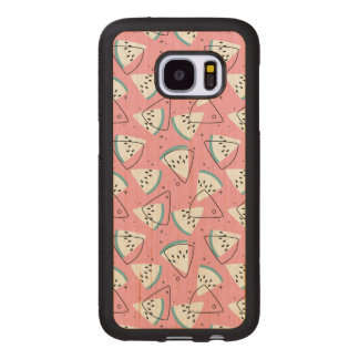 Colorful Watercolor Watermelons Wood Samsung Galaxy S7 Case