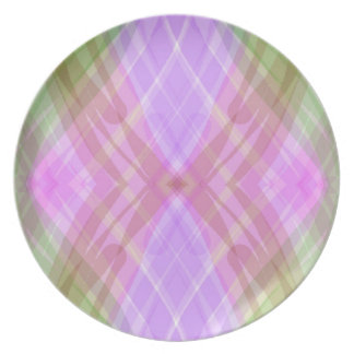 Colorful Watercolors Abstract Art -Purple Green Plates