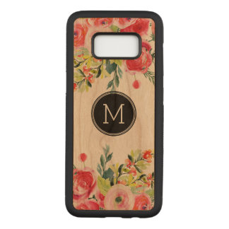 Colorful Watercolors Flowers Bouquet Carved Samsung Galaxy S8 Case