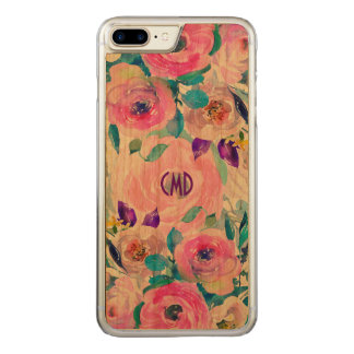 Colorful Watercolors Flowers Collage GR4 Carved iPhone 8 Plus/7 Plus Case
