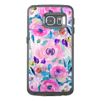 Colorful Watercolors Flowers Collage GR7 OtterBox Samsung Galaxy S6 Edge Case