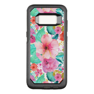 Colorful Watercolors Flowers Collage Illustration OtterBox Commuter Samsung Galaxy S8 Case