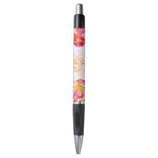 Colorful Watercolors Flowers Design Pen