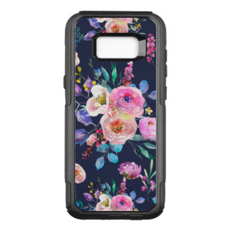 Colorful Watercolors Flowers Pattern OtterBox Commuter Samsung Galaxy S8+ Case