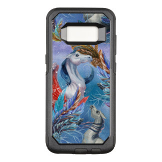 Colorful Watercolors Pegasus & Feathers Pattern OtterBox Commuter Samsung Galaxy S8 Case