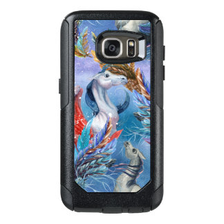 Colorful Watercolors Pegasus & Feathers Pattern OtterBox Samsung Galaxy S7 Case
