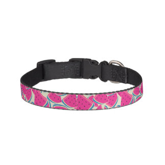Colorful Watermelons Pattern Pet Collar