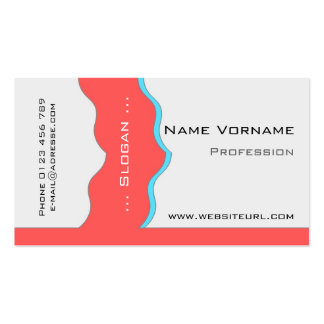 colorful wave business card