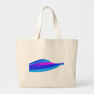 Colorful wave large tote bag