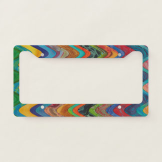 Colorful Wave License Holder License Plate Frame