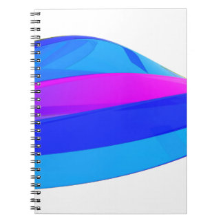 Colorful wave notebook