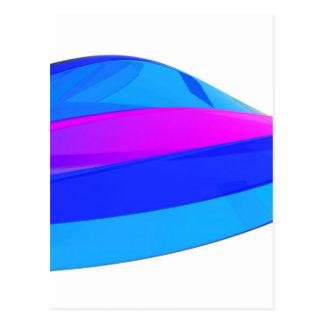 Colorful wave postcard
