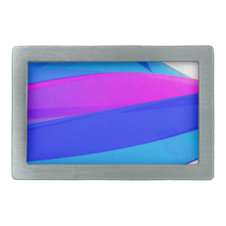 Colorful wave rectangular belt buckle