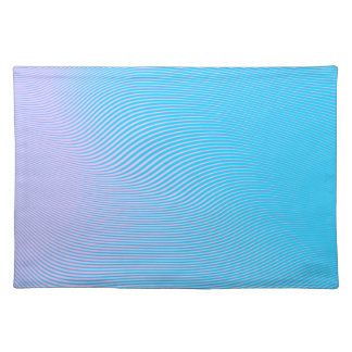 Colorful Waves And Lines Placemat