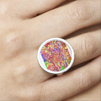 Colorful Waves Spirit Love Romance nvn256 Dating Rings