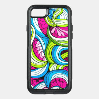 Colorful Wavy Psychedelic Pattern OtterBox Commuter iPhone 8/7 Case