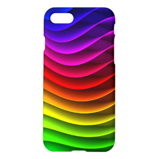 Colorful Wavy Rainbow Pattern iPhone 7 Case