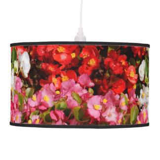 Colorful Wax Begonias Hanging Pendant Lamp