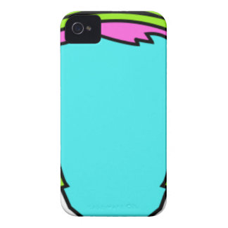 Colorful Wearing Headphones iPhone 4 Cases
