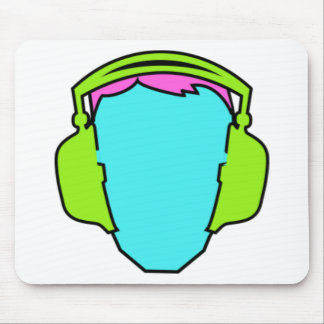 Colorful Wearing Headphones Mouse Pad