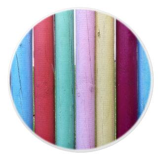 Colorful Weather Wood Sticks Knob Ceramic Knob