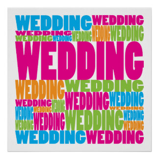 Colorful Wedding Poster