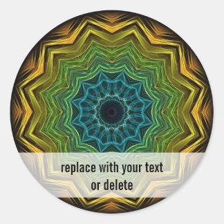 Colorful Well Kaleidoscope Classic Round Sticker