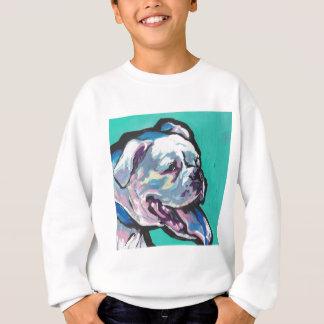 Colorful White Boxer Portrait Fun Pop Art Sweatshirt