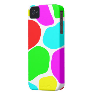 Colorful/White Giraffe Print - iPhone 4/4s Case