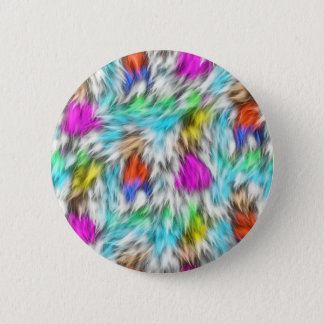 Colorful White Leopard Fur Pattern 2 Inch Round Button