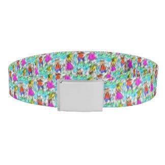 Colorful White Leopard Fur Pattern Belt