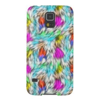 Colorful White Leopard Fur Pattern Galaxy S5 Case