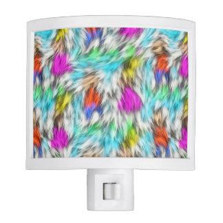 Colorful White Leopard Fur Pattern Nite Lights