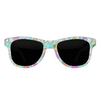 Colorful White Leopard Fur Pattern Sunglasses