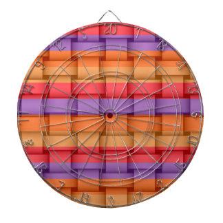 Colorful wicker art graphic design 2 dartboards