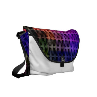 Colorful wicker art graphic design courier bag