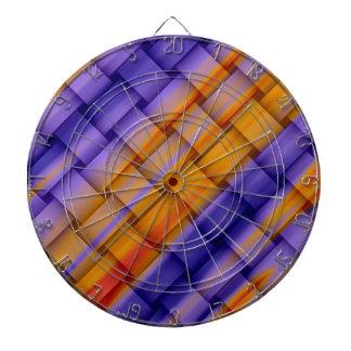 Colorful wicker retro graphic design dart boards