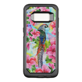 Colorful Wild Peasant In Tropical Pink Flowers OtterBox Commuter Samsung Galaxy S8 Case