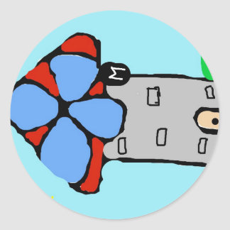 Colorful windmill round sticker