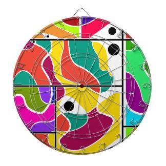 Colorful windows dart board