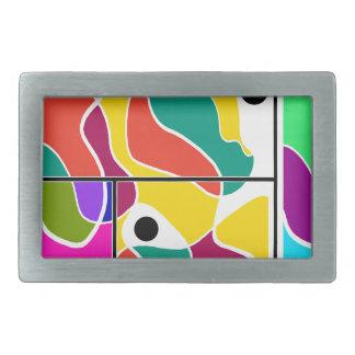 Colorful windows rectangular belt buckle