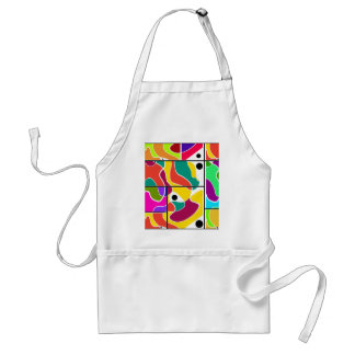 Colorful windows standard apron