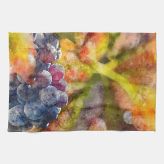 Colorful Wine Grapes on the Vine Hand Towel