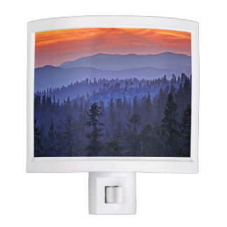 Colorful Winter Horizon Night Lights