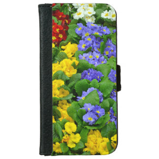 Colorful winter primroses iphone wallet cas