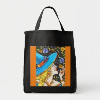 Colorful Witch Halloween TOTE BAG