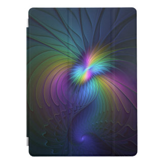 Colorful With Blue Modern Abstract Fractal Art iPad Pro Cover