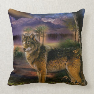 Forest Wolf Pillows Cushions Zazzle Ca