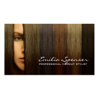 Colorful Woman Hair Haircut Stylist Card Business Cards